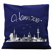 K292 wandtattoo-loft Cojines decor. Skyline von HANNOVER color deseado