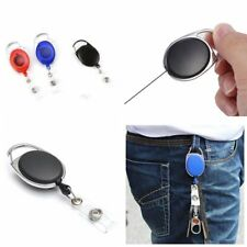 Retractable ID Card Badge Holder Key Chain Reels With Clip ZZ