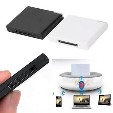 30 Pin Dock Speaker Bluetooth Music Audio Receiver Adapter For iPod iPhone PC bm