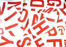115mm 103cm rouge sur blanc collant lettres,lettrage stickers,PLASTIQUE