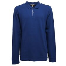 0250V polo uomo BURBERRY BRIT maglia blu polo t-shirt men