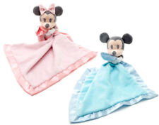 Official Disney Store Mickey & Minnie Mouse Pink Blue Baby Comforter Blanket NEW