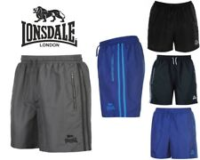 Mens Lonsdale Two Stripe Woven Training Shorts