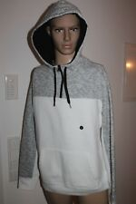 Hollister homme Pull Pull à capuche gris blanc taille L ou XL, NEUF