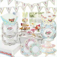 Talking Tables Vintage Tea Party Tableware Supplies Disposable Plates Napkins