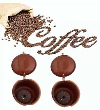 refillable reusable coffee capsules pods stainless steel filter Nespresso Dolce