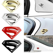 3D Chrome Metal Auto Car Motorcycle Superman Logo Sticker Badge Emblem Decal New