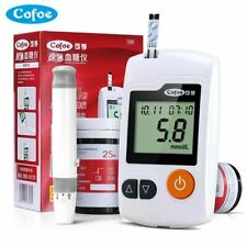 Blood Glucose Meter with 50/100Pcs Test Strips and Lancets Needles of Cofoe for
