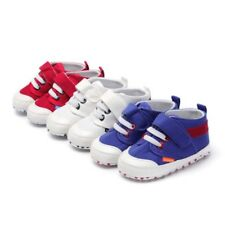 Newborn Baby Boys Girls Soft Soled Crib Shoes Canvas Sneakers Trainers Prewalker