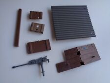 Gi Joe part OUTPOST DEFENDER 1986 BEAM ROOF WALL GUN PLATFORM CRATE COVER