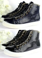 New Ladies Flat High Hi Top Lace Up Trainers Sneakers Pumps Ankle Shoes Boots