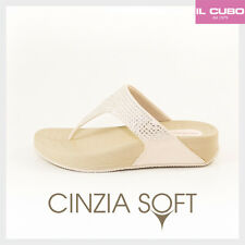 CINZIA SOFT INFRADITO DONNA ANATOMICO COLORE BIANCO ZEPPA H 4 CM NEW COLLECTION