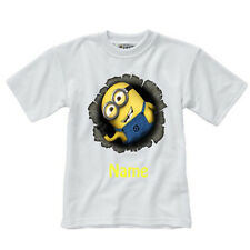 Personalised Children's T-Shirt - Minions  - Style 3 - Sizes 1-14 yrs