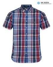 Gant Men's Madras Plaid Short Sleeve Shirt - Bright Pink