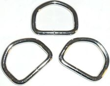 TOP QUALITY 41MM SOLID METAL IRON WELDED SILVER D RING BUCKLES FOR WEBBING ETC
