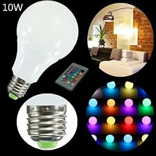 10W 16 Colour Changing RGB LED E27 Bulb Mood Night Light Lamp + Remote Control