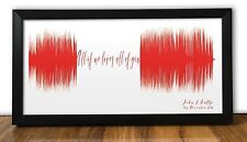 John Legend All Of Me PERSONALISED SOUNDWAVE PRINT  anniversary wedding gift