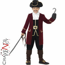 DELUXE Pirate Captain Hook Costume Boys Child Caribbean Book Week Fancy Dress