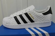 ADIDAS SUPERSTAR WOVEN WHITE GOLD MEN,S TRAINERS LIMITED EDITION BNIB  38