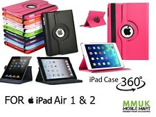 360° Giratorio Funda Cuero De Pu para Apple iPad Air 1 Y 2 CARCASA CON SOPORTE