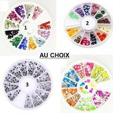 CARROUSSEL 3D STRASS PERLE ONGLE NAIL ART ARGENT DORE MULTICOLORE NEUF ONG023