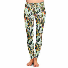 Haunted Mansion Stretch Paintings Yoga Leggings Low Rise Full Length XS-3XL