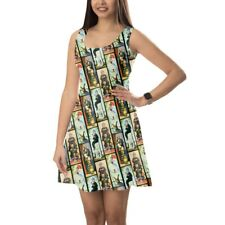 Haunted Mansion Stretch Paintings Sleeveless Dress XS-5XL Sleeveless Flared Stre