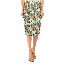 Haunted Mansion Stretch Paintings Midi Pencil Skirt XS - 3XL Bodycon