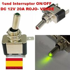 DC 12V 20A LED ROJO- VERDE Luz Control Interruptor ON/OFF Coche