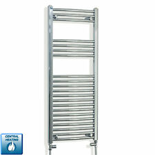 1100 x 450 mm Curved Chrome Heated Towel Rail Radiator Central Heating Bathroom