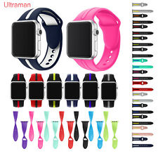 Silicone Wrist Bracelet Sport Band Strap For Apple Watch 38/42 Series 1/2/3 Lot