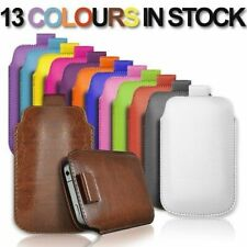 PULL TAB PU LEATHER POUCH COVER CASE *only* fits 02 Doro 5516 + Stylus