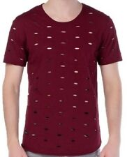 Redbridge uomo molto Cuts T-Shirt Destroyed BORDEAUX VINO ROSSO by Cipo & Baxx