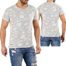 Redbridge by shelly & Baxx UOMINI Strick- T-SHIRT MIMETICO ARMY MILITARE GRIGIO