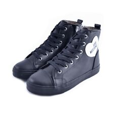 Scarpe shoes sneakers Love Moschino donna woman nere argento black pelle leather