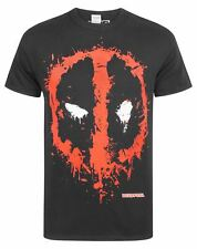 Marvel Comics Deadpool Splat Logo S-XXXL Homme Noir T-Shirt
