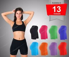 LADIES WOMENS CYCLING SHORTS DANCING SHORTS LYCRA LEGGINGS ACTIVE CASUAL