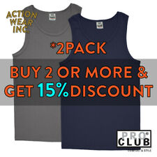 2 PCs Mens Plain TANK TOP Sleeveless MUSCLE T SHIRT Gym Workout Fitness Relaxed