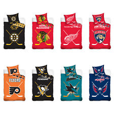 NHL NATIONAL HOCKEY LEAGUE VENTAGLI lenzuola letto lino HOCKEY GHIACCIO