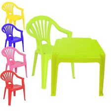 Childrens Kids Plastic Table and Chairs Nursery Sets Indoor Use Unisex Best Gift