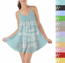 Laughter is Timeless Walt Disney Quote Beach Cover Up Dress XS-3XL