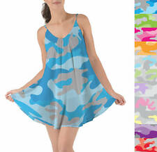 Colored Camouflage Beach Cover Up Dress XS-3XL