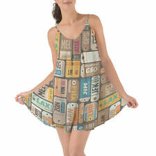 Luggage Tags Retro Beach Cover Up Dress