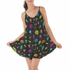 Neon Trick or Treat Beach Cover Up Dress XS-3XL