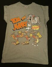 PRIMARK LADIES GIRLS TOM & JERRY CAT MOUSE T SHIRT TEE TOP UK 12 CARTOON