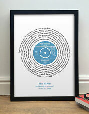 Personalised 18th Birthday Present - Unique 18th Gift - Song Lyrics Framed Print