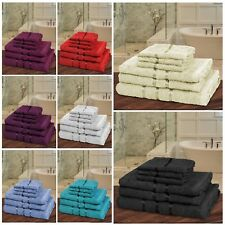 6 PCS 100% COTTON BATHROOM TOWEL BALE SET✔SOFT SATIN STRIPE✔FACE, HAND & BATH