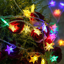 LED Star Fairy Light Window Curtains String Lamp for Christmas Xmas Party Decor