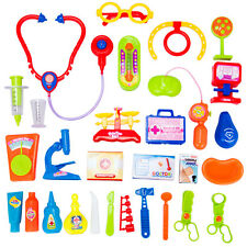 30X Educational Kid Pretend Doctor Nurse Medical Role Play Set Case Baby Kit Toy