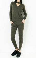NEW Spring 2 Piece Lounge Wear Sweatshirt Joggers Tracksuit Top V Neck £10.99